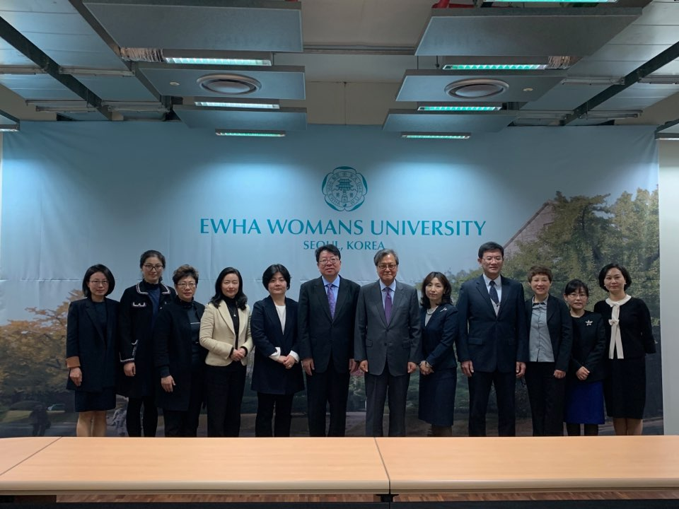 Delegation with Vice Chairman from China Welfare Institute Visits Ewha  첨부 이미지